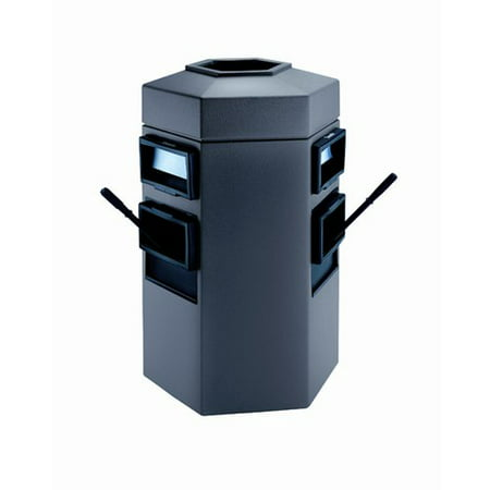 commercial zone islander series 35 gallon trash can. Black Bedroom Furniture Sets. Home Design Ideas