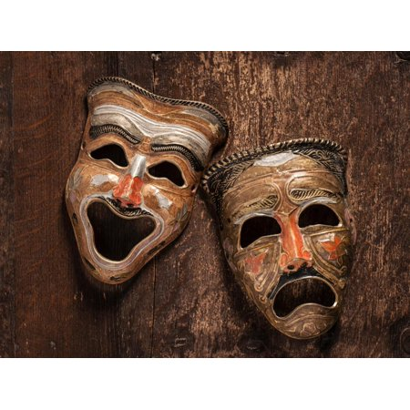 Comedy and Tragedy Masks Lying Print Wall Art By Lars Hallstrom](Tragedy And Comedy Masks)