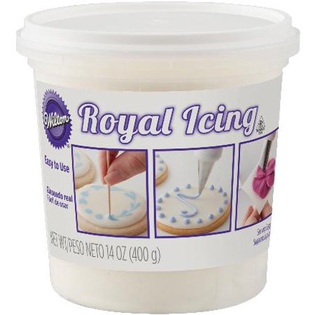 White Cookie Icing (Wilton Royal Icing, White, 14oz )