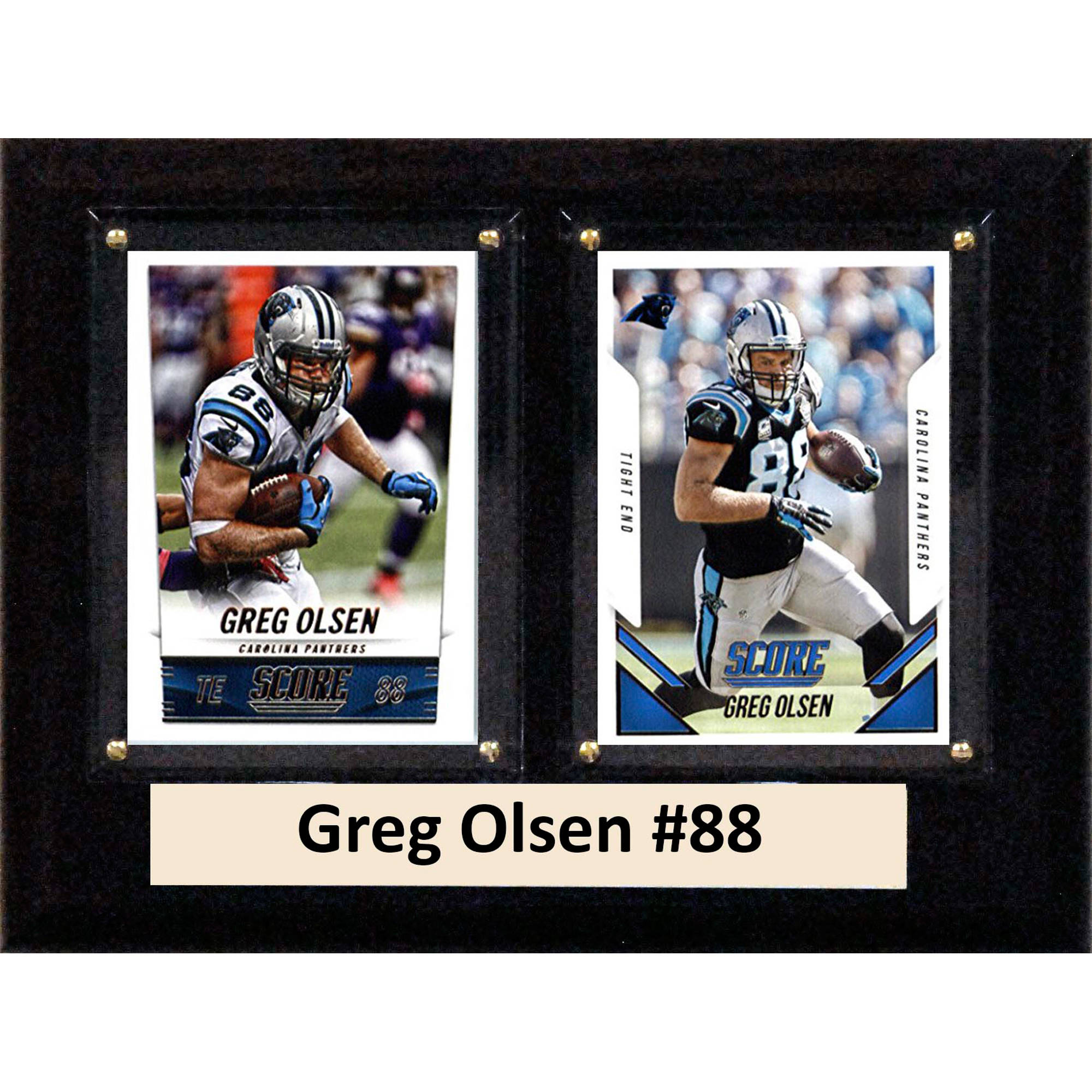 C&I Collectables NFL 6x8 Greg Olsen Carolina Panthers 2-Card Plaque by C & I Collectables