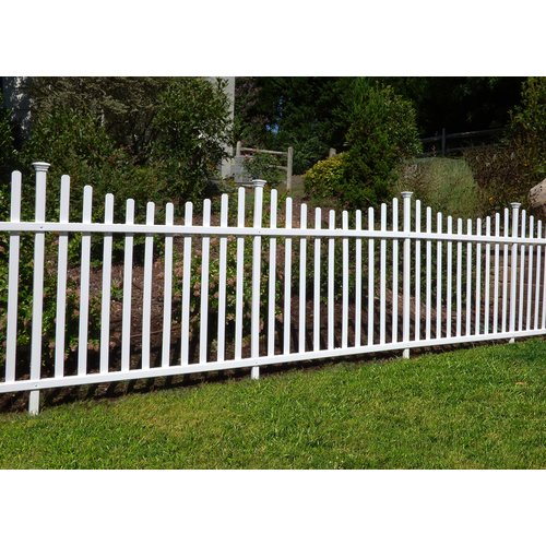 Zippity Outdoor Products 3.5 ft. H x 7.5 ft. W Manchester Semi-Permanent Fence Panel (Set... by