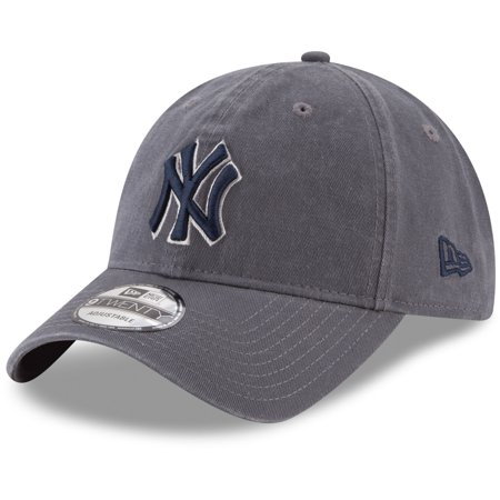 New York Yankees New Era Primary Logo Core Classic 9TWENTY Adjustable Hat - Graphite - -