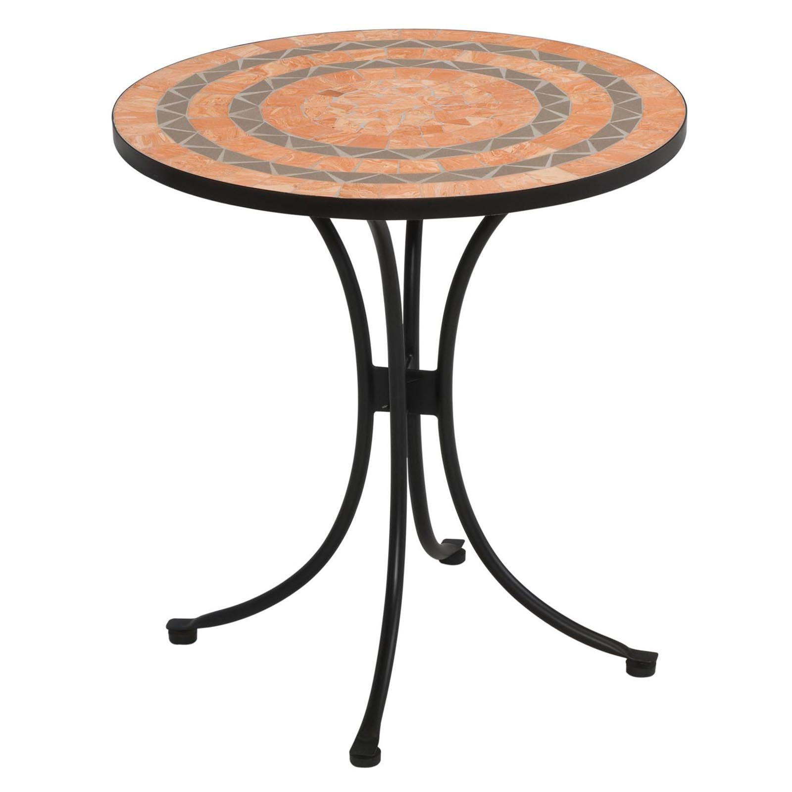 Home Styles Terra Cotta Tile Top Outdoor Bistro Table, Terra Cotta
