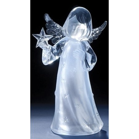 11 Quot Icy Crystal Led Lighted Angel Holding A Star Christmas