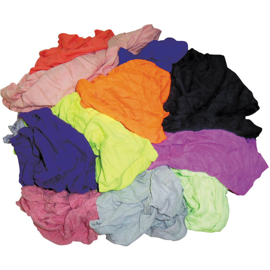 Hospital Specialty Co. Assorted Colors Polo T-Shirt Rags, 10 lbs