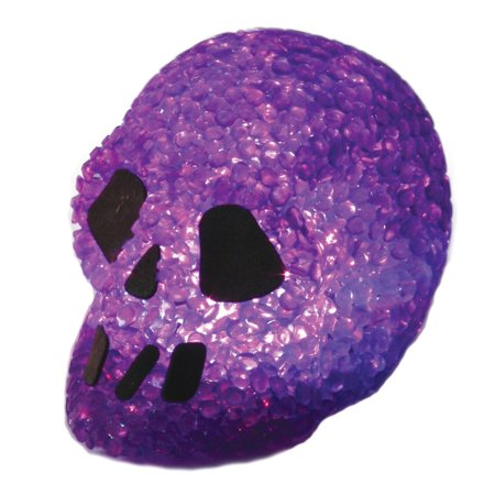 Fun World Sparkle Light Up Halloween Skull Prop Table Decoration 3