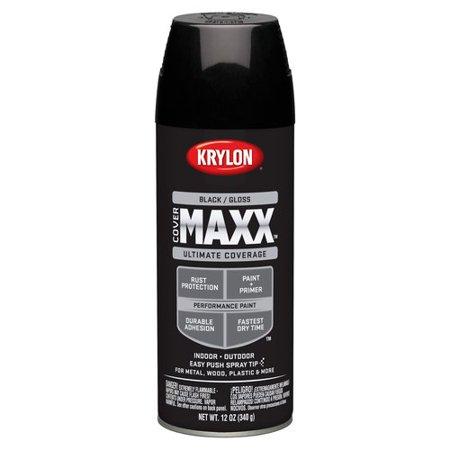 Krylon Diversified Brands Covermaxx Brilliant Spray Paint Gloss Black 12 Oz