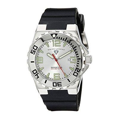 swiss legend men's 10008-02s expedition analog display swiss quartz black watch