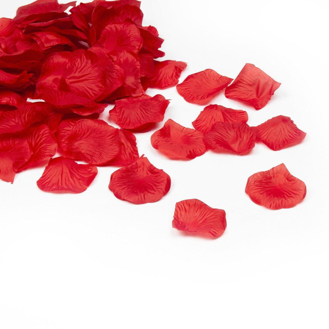 1000 Deep Red Quality Silk Rose Petals Confetti Wedding Decorations