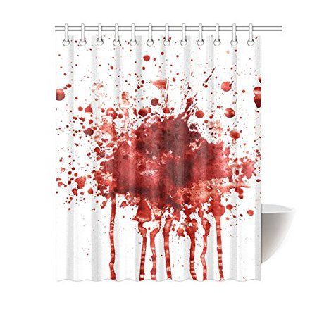 MKHERT Funny Splattered Blood Stain Horror Halloween Theme Decor Waterproof Polyester Fabric Shower Curtain Bathroom Sets 60x72 inch - Halloween Blood Stains