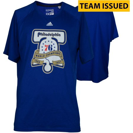 Philadelphia 76ers Team-Issued Blue Liberty Bell Champions Shooter Shirt from the 2016-17 NBA Season - Size XL - Fanatics Authentic Certified ()