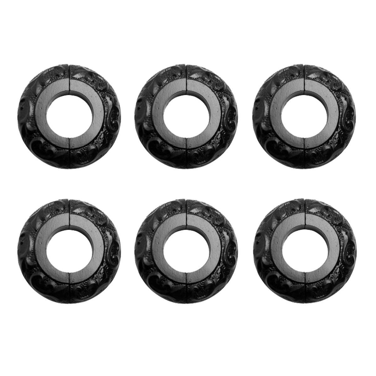6 Radiator Flange Black Aluminum Escutcheon 1 1/4'' ID | Renovator's Supply