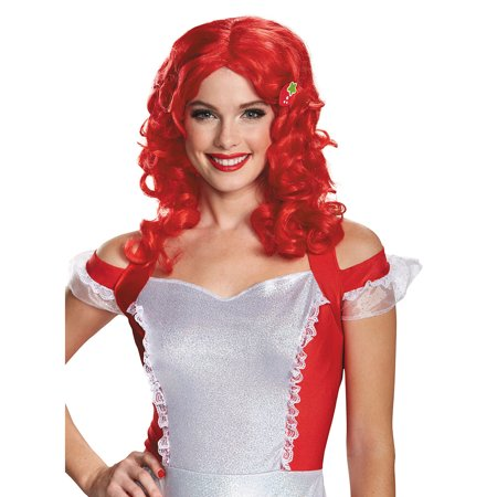 Adult Strawberry Shortcake Deluxe Wig by Disguise - Strawberry Shortcake Wig
