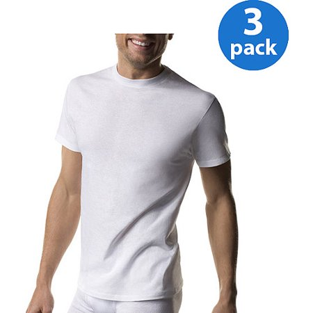 Hanes Mens ComfortSoft White Crew Neck T-Shirt 3-Pack
