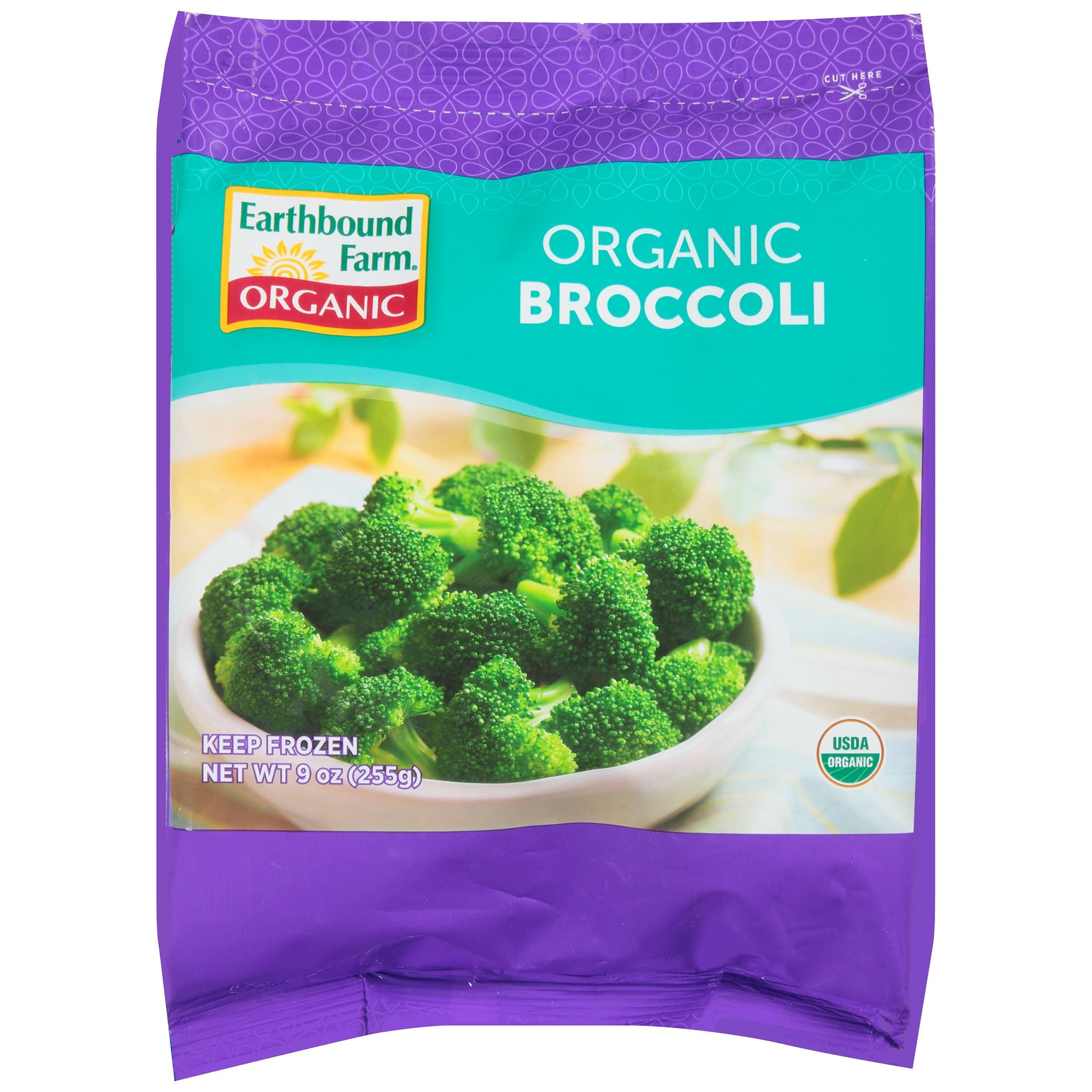 earthbound farm organic broccoli 9 oz bag walmart com