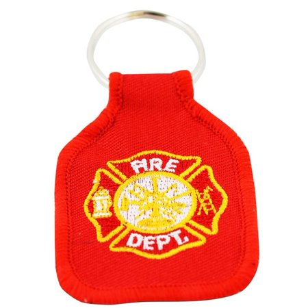 Rush Industries, INC Fire Department Embroidered Keychain ()