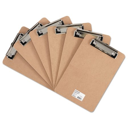 Hardboard Clipboard with Low-Profile Clip, 1/2