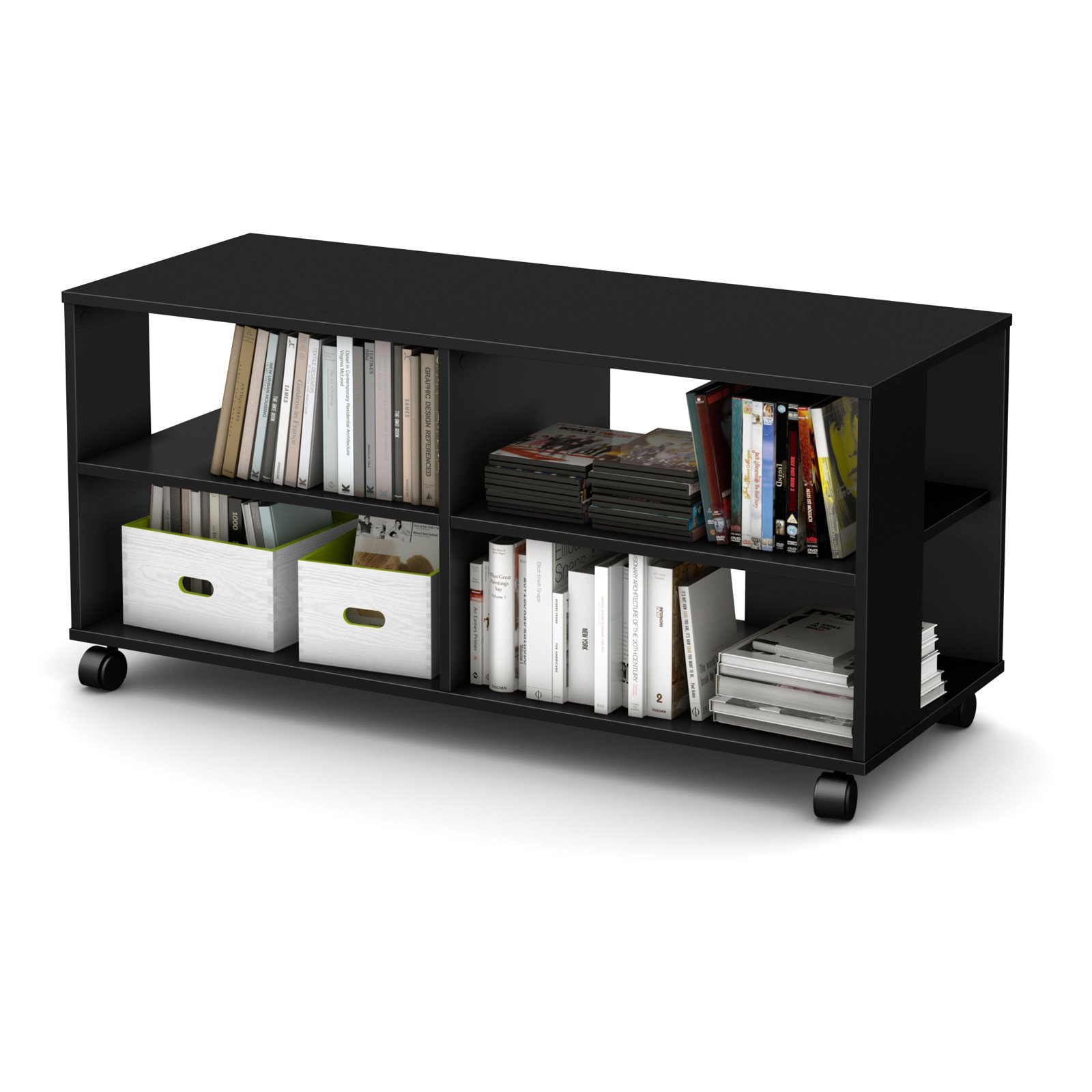 """South Shore Jambory Storage Unit on Casters for TVs up to 48"""", Multiple Finishes"""