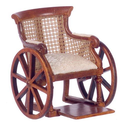 Town Square Miniatures Walnut Victorian Wheelchair