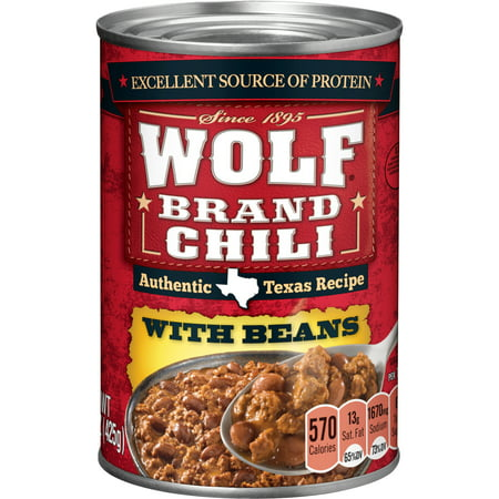 (6 Pack) Wolf Brand Chili with Beans, 15 Ounce