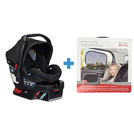 Britax B Safe 35 Infant Car Seat In Black With Bonus Ez Cling Window Shades