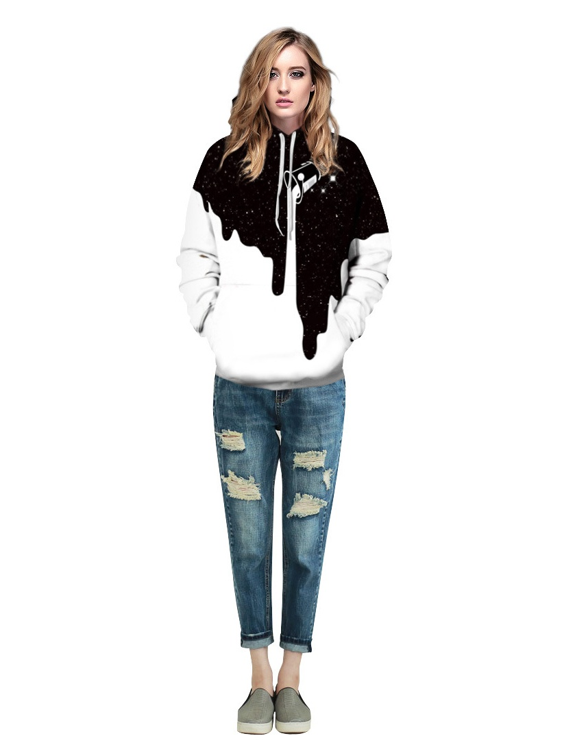 Printed Long-Sleeved T-Shirt,Digital Print Couple Comfortable Sweatshirts Exercise Fitness and Tights Sports Unicorn