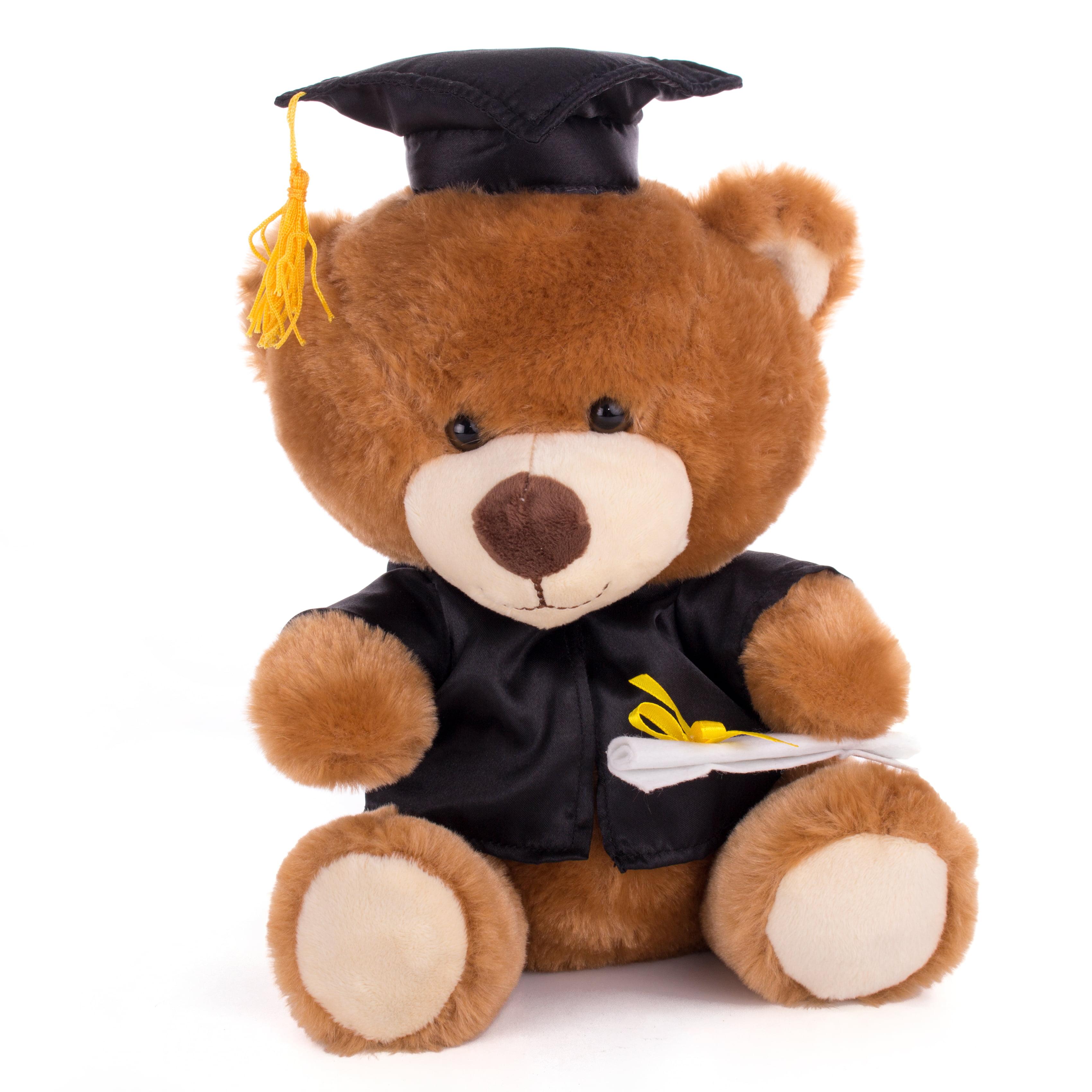 Aurora World Plush Graduation Bear White Cap 8.5