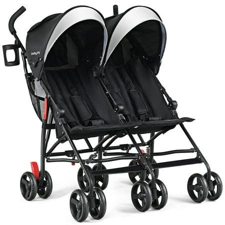 Foldable Twin Baby Double Stroller Kids Ultralight