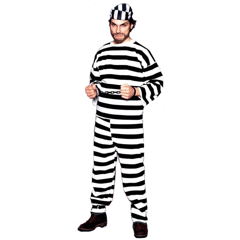Convict Male Deluxe Adult Costume