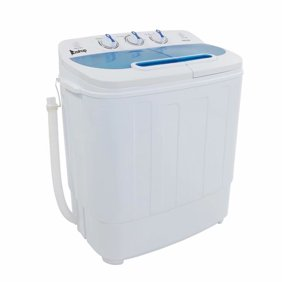 ZOKOP Portable Washing Machines For Apartments, XPB30-RS3 10.4Lbs  Semi-automatic Twin Tube Washing Machine US Standard White & Blue
