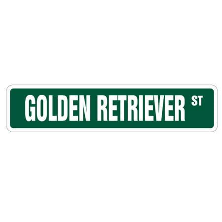 GOLDEN RETRIEVER Street Sign dog puppy breeder pet yard | Indoor/Outdoor | 24