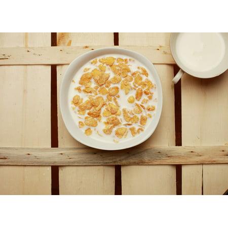 canvas print bottle flake have breakfast milk breakfast cereals stretched canvas 10 x 14
