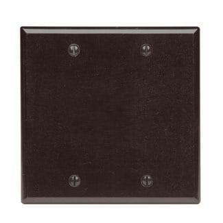 Leviton  001-85025-BRN Two Gang Brown Blank Box Mounted Plastic Wallplate