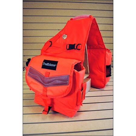 ORANGE 600D POLY DELUXE HORSE TRAIL RIDING SADDLE BAG PACK WATER (Deluxe Trail Saddle)