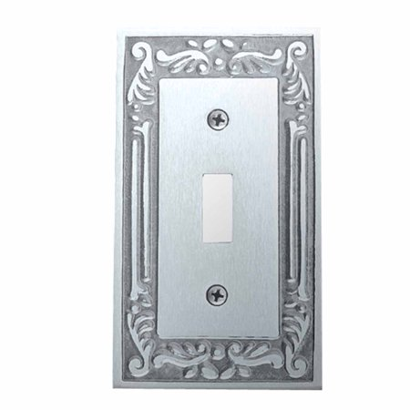 Victorian Switch Plate Single Toggle Chrome Solid Brass | Renovators Supply
