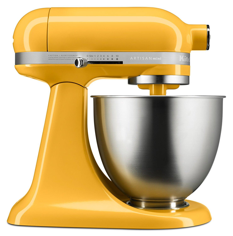 KitchenAid RKSM3311XBF Mini Series Tilt-Head Stand Mixer, 3.5 quart, Orange Sorbet (CERTIFIED REFURBISHED)