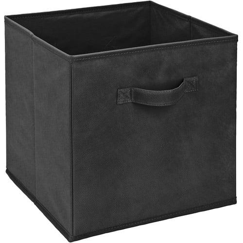 "Simplify Storage Bin, Black (11""L x 11""W x 11""H Inch)"