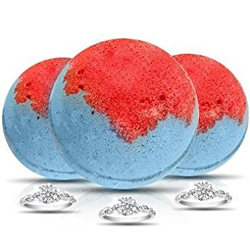 Suzie Q 3 Pack Bath Bombs by Soapie Shoppe with Assorted Rings