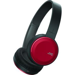 JVC HA-S190BT Colorful Bluetooth On-Ear Headset - Red