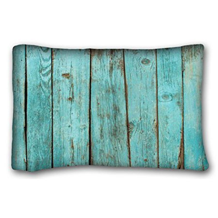 Winhome Cool Dream Turquoise Wood Teal Barn Weathered Beach Pillow Case Cases Cover Cushion Covers