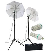 ePhoto Super Bright 2 x 120 LED Photography Video Studio Photo Umbrella Lighting Light Kit