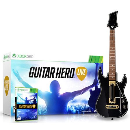 Activision Guitar Hero Live Bundle (Xbox 360) Guitar and (Best Xbox Live Games)