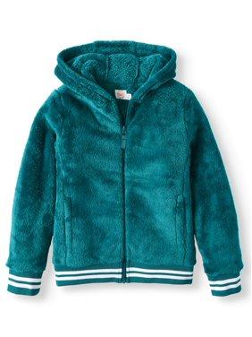 Wonder Nation Plush Full-Zip Jacket with Hood (Little Girls, Big Girls & Plus)