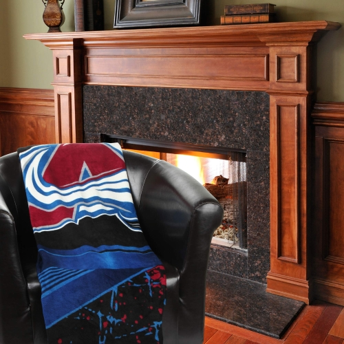 "Colorado Avalanche 46"" x 60"" Ice Dash Micro Raschel Throw Blanket - No Size"