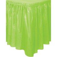 Plastic Table Skirt, 14 ft, Lime Green, 1ct