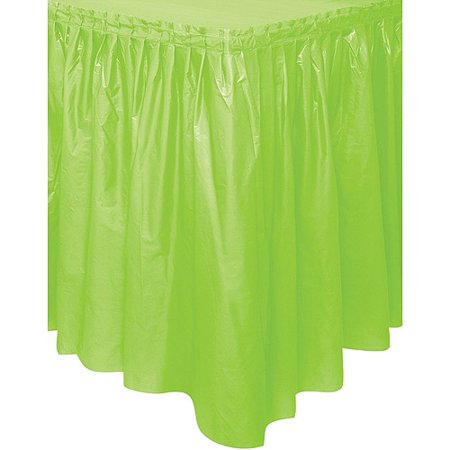 Plastic Table Skirt, 14 ft, Lime Green, 1ct - Plastic Table Skirts Cheap