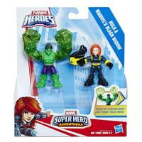 Playskool Marvel Super Hero Adventures Hulk and Marvel's Black Widow