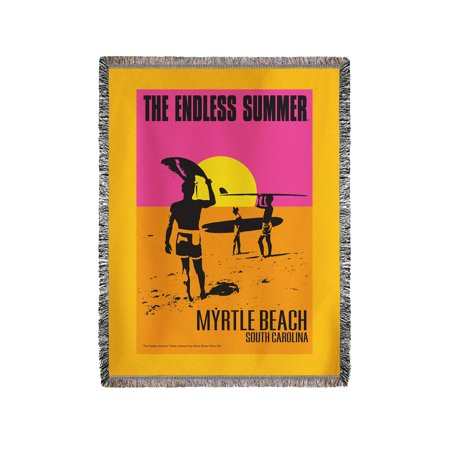 The Endless Summer   Original Movie Poster   Myrtle Beach  South Carolina   Lantern Press Artwork  60X80 Woven Chenille Yarn Blanket