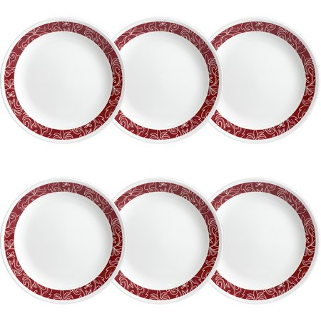 "Corelle Livingware Bandhani 8.5"" Lunch Plate, Set of 6"