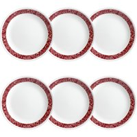 """Corelle Classic Bandhani 8.5"""" Lunch Plate, Set of 6"""